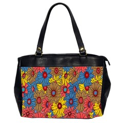 Background With Multi Color Floral Pattern Office Handbags (2 Sides)  by Nexatart