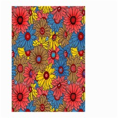 Background With Multi Color Floral Pattern Small Garden Flag (two Sides)