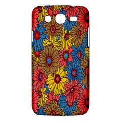 Background With Multi Color Floral Pattern Samsung Galaxy Mega 5 8 I9152 Hardshell Case  by Nexatart