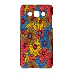 Background With Multi Color Floral Pattern Samsung Galaxy A5 Hardshell Case  by Nexatart
