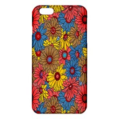 Background With Multi Color Floral Pattern Iphone 6 Plus/6s Plus Tpu Case by Nexatart