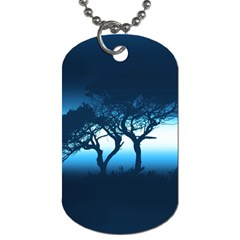 Sunset Dog Tag (one Side)