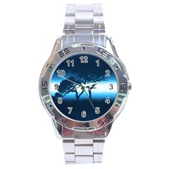 Sunset Stainless Steel Analogue Watch