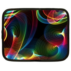 Abstract Rainbow Twirls Netbook Case (xl)  by Nexatart