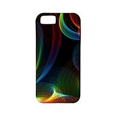 Abstract Rainbow Twirls Apple Iphone 5 Classic Hardshell Case (pc+silicone) by Nexatart