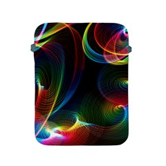 Abstract Rainbow Twirls Apple Ipad 2/3/4 Protective Soft Cases by Nexatart