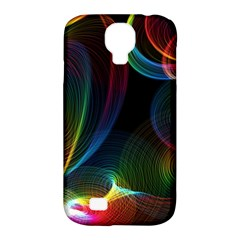 Abstract Rainbow Twirls Samsung Galaxy S4 Classic Hardshell Case (pc+silicone) by Nexatart