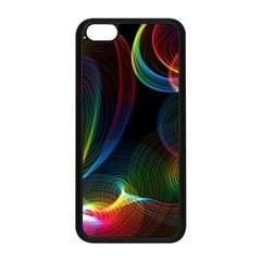 Abstract Rainbow Twirls Apple Iphone 5c Seamless Case (black)