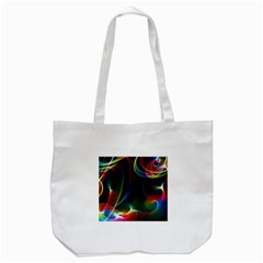 Abstract Rainbow Twirls Tote Bag (white) by Nexatart