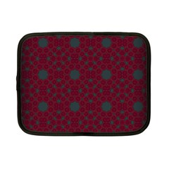 Blue Hot Pink Pattern With Woody Circles Netbook Case (small)  by Nexatart