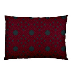 Blue Hot Pink Pattern With Woody Circles Pillow Case by Nexatart