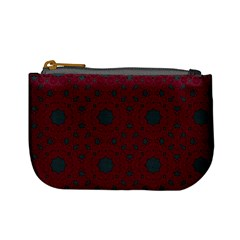 Blue Hot Pink Pattern With Woody Circles Mini Coin Purses by Nexatart
