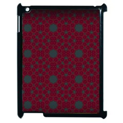 Blue Hot Pink Pattern With Woody Circles Apple Ipad 2 Case (black) by Nexatart
