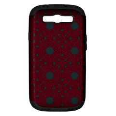 Blue Hot Pink Pattern With Woody Circles Samsung Galaxy S Iii Hardshell Case (pc+silicone)