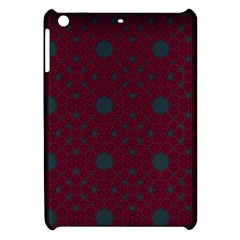 Blue Hot Pink Pattern With Woody Circles Apple Ipad Mini Hardshell Case by Nexatart