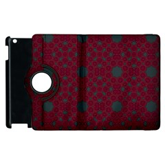 Blue Hot Pink Pattern With Woody Circles Apple Ipad 3/4 Flip 360 Case by Nexatart