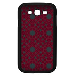 Blue Hot Pink Pattern With Woody Circles Samsung Galaxy Grand Duos I9082 Case (black) by Nexatart