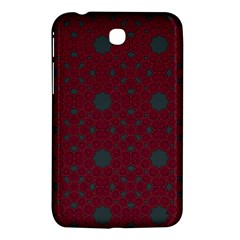 Blue Hot Pink Pattern With Woody Circles Samsung Galaxy Tab 3 (7 ) P3200 Hardshell Case  by Nexatart