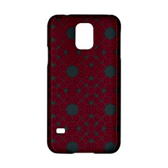 Blue Hot Pink Pattern With Woody Circles Samsung Galaxy S5 Hardshell Case