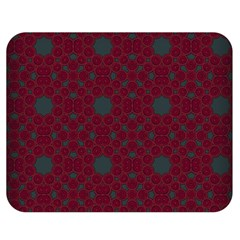 Blue Hot Pink Pattern With Woody Circles Double Sided Flano Blanket (medium)  by Nexatart