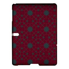Blue Hot Pink Pattern With Woody Circles Samsung Galaxy Tab S (10 5 ) Hardshell Case  by Nexatart