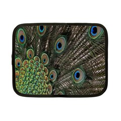 Close Up Of Peacock Feathers Netbook Case (small)  by Nexatart