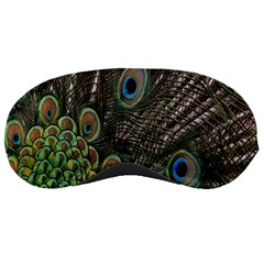 Close Up Of Peacock Feathers Sleeping Masks by Nexatart
