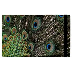 Close Up Of Peacock Feathers Apple Ipad 2 Flip Case by Nexatart