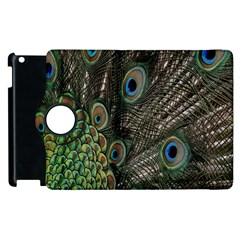 Close Up Of Peacock Feathers Apple Ipad 2 Flip 360 Case