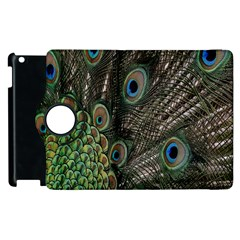 Close Up Of Peacock Feathers Apple Ipad 3/4 Flip 360 Case by Nexatart