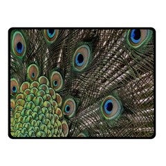Close Up Of Peacock Feathers Double Sided Fleece Blanket (small)  by Nexatart