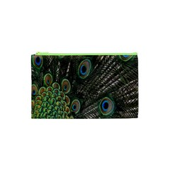 Close Up Of Peacock Feathers Cosmetic Bag (xs)