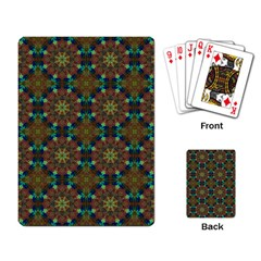 Seamless Abstract Peacock Feathers Abstract Pattern Playing Card