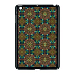 Seamless Abstract Peacock Feathers Abstract Pattern Apple Ipad Mini Case (black)