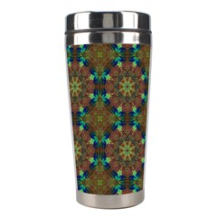 Seamless Abstract Peacock Feathers Abstract Pattern Stainless Steel Travel Tumblers by Nexatart