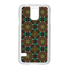 Seamless Abstract Peacock Feathers Abstract Pattern Samsung Galaxy S5 Case (white) by Nexatart