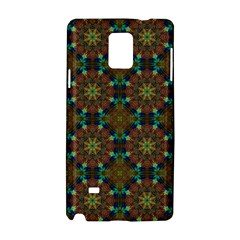 Seamless Abstract Peacock Feathers Abstract Pattern Samsung Galaxy Note 4 Hardshell Case by Nexatart
