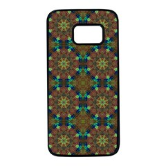 Seamless Abstract Peacock Feathers Abstract Pattern Samsung Galaxy S7 Black Seamless Case by Nexatart