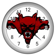 Dracula Wall Clocks (silver)  by Valentinaart
