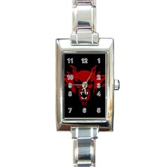 Dracula Rectangle Italian Charm Watch by Valentinaart