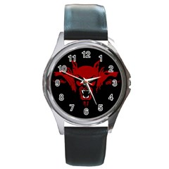 Dracula Round Metal Watch