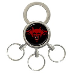 Dracula 3 Ring Key Chains by Valentinaart