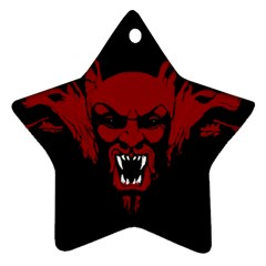 Dracula Star Ornament (two Sides) by Valentinaart