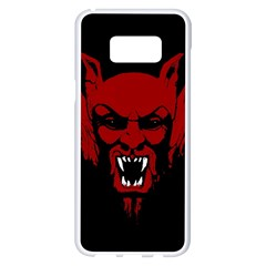 Dracula Samsung Galaxy S8 Plus White Seamless Case by Valentinaart
