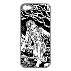 Vampire  Apple Iphone 5 Case (silver) by Valentinaart