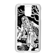 Vampire  Samsung Galaxy S5 Case (white) by Valentinaart