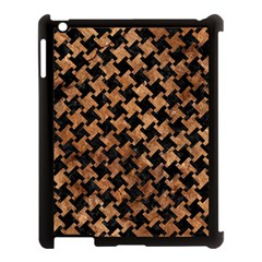 Houndstooth2 Black Marble & Brown Stone Apple Ipad 3/4 Case (black) by trendistuff