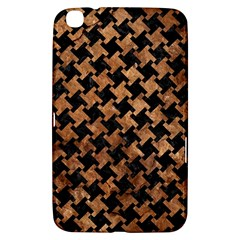 Houndstooth2 Black Marble & Brown Stone Samsung Galaxy Tab 3 (8 ) T3100 Hardshell Case  by trendistuff