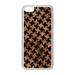 Houndstooth2 Black Marble & Brown Stone Apple Iphone 5c Seamless Case (white) by trendistuff