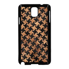 Houndstooth2 Black Marble & Brown Stone Samsung Galaxy Note 3 Neo Hardshell Case (black) by trendistuff